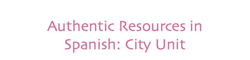 AuthRes for Spanish city unit